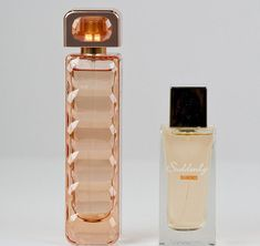 The notes in Lidl Suddenly Diamonds (right) are similar to the fruity, sweet ones in Hugo Boss Orange (left) Patchouli Perfume, Chanel Perfume, Chanel Art, Cheap Perfume, Perfume Bottles, Expensive Perfume, Make Up Dupes, Perfume Making, Makeup