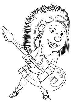 Dibujos Para Colorear De La Pelicula Canta O Sing Pinta A Buster Johnny El Gorila Slack El