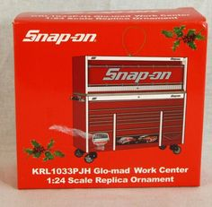 Snap-on Christmas Ornament KRL1033PJH Glo-mad Work Center Tools 1:24 Scale