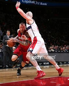 Chris Andersen #11 of Miami Heat handles the ball against the Washington Wizards on March 6, 2015 at Verizon Center in Washington, DC.