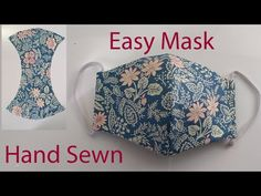 Hand Sewn Face Mask Tutorial | Easy Face Mask | How To Make A Face Mask | Cómo hacer mascarilla - YouTube Sewing Hacks, Sewing Tutorials, Sewing Crafts, Sewing Projects, Easy Face Masks, Diy Face Mask, Sewing Patterns Free, Free Pattern, Mascara 3d