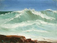 Carmel Cresting Wave by Kathleen Murray this one sold just as it hit OKL-6x8 for 175.00