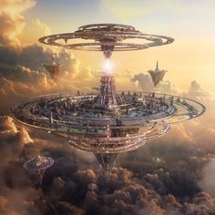 Floating cities, space opera / sci-fi setting inspiration DreamState Los Angeles by aiiven on DeviantArt
