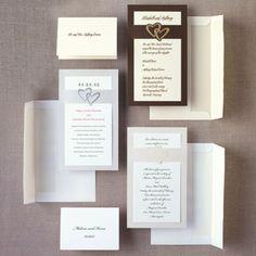 Heart Duet Wedding Invitation - Heart Wedding Invitations