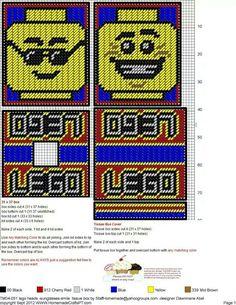 Lego Heads-Sunglasses, Smile TBC