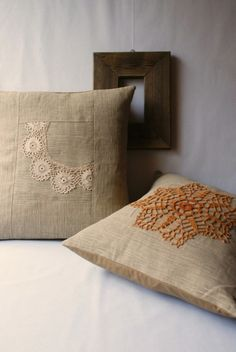 Doily pillows.