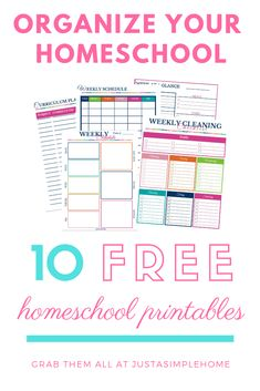 10 Days of Homeschool Printables - Plan and organize your homeschool with these free printables! Just A Simple Home homeschool homeschoolplanner homeschoolprintables freeprintables 85568461656990822 Free Homeschool Curriculum, Homeschool Supplies, Homeschool Kindergarten, Homeschooling, Preschool, Planning School, Meal Planning, Lesson Planner, Blog Planner