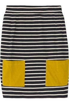 Chinti and Parker | Striped cotton mini skirt | NET-A-PORTER.COM - StyleSays