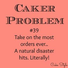 Thinking of all the cakers in our area, that are flooded in, without power for a second day. April is a very busy wedding month, so there are a lot of cakes that need to be baked.