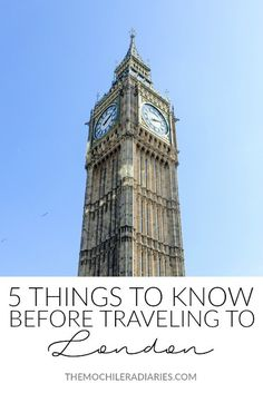 5 Things to Know Before Traveling to London