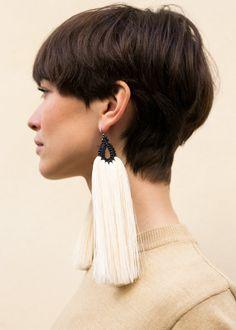 Cara Larga Black Orejas de Conejo Earrings – The Frankie Shop