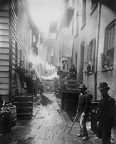 Tenements on the Lower East Side of New York in the 1880s.