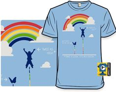 """Funny shirt inspired by Reading Rainbow.  """"Don't Take My Word For It"""" - Shirt.Woot"""