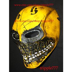Army of two mask, Paintball airsoft mask, Halloween mask, Steampunk mask, Halloween costume & Cosplay mask, yellow MA166 et