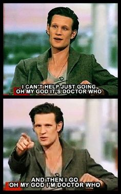 Matt Smith on seeing David Tennant at a party