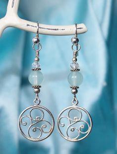 Larimar Dangle Earrings, Blue Dreamcatcher, Kinsey Designs on Etsy, $21.00 CAD