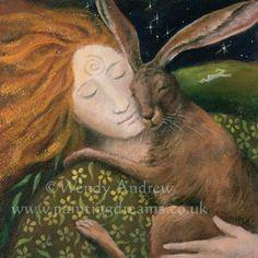 Hares - hug with Amanda Clark