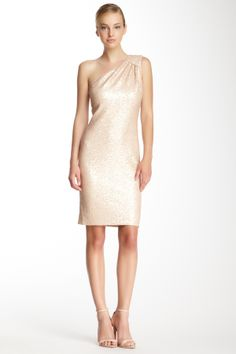 Laundry One Shoulder Sequin Dress