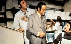 Sid James, Bernard Bresslaw and Kenneth Cope in Carry On At Your Convenience.