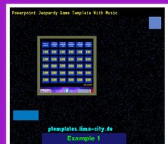 Jeopardy Powerpoint Template With Score Powerpoint Templates