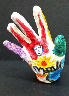 Lesson Objective: Students will explore plaster building and oil pastels while learning about the Iconography and the Art Moveme. Plaster Hands, Plaster Art, Middle School Art, Art School, Banksy Graffiti, Hand Art, Art Market, Art Lessons, Art For Kids