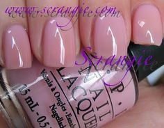 "OPI: ""In the Spot-Light Pink,"" Femme de Cirque Soft Shades Collection, Spring 2011, a sheer pink color."
