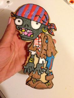 This extremely creative large Zombie cookie can also be found on my FUN / FUNNY cookie board ~ I hope you enjoy this board. Go forth and pin freely! ;-)