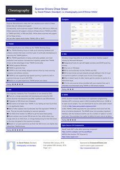 Scanner Drivers Cheat Sheet by Davidpol http://www.cheatography.com/davidpol/cheat-sheets/scanner-drivers/ #cheatsheet #compared #scanning #drivers #wia #isis #twain