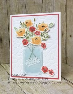 Jar of Love, Stampin' Up!, Petal Burst Embossing Folder, What Will You Stamp?, WWYS, stampinginferno.blogspot.com