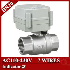 3/4''  AC110V-230V Electric Valve 7 wires(CR704 ), DN20 electric ball valve, flow control valve for BREWING equipment