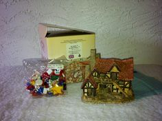 "Vintage David Winters Cottages -  ""The BOTHY HOUSE""  1983/ Plus Ornaments unopened, Vintage Cottage"