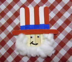 DIY 4th July Independence Day Crafts : Popsicle Stick Uncle Sam