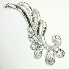 New _broideries silver sequines embroidery