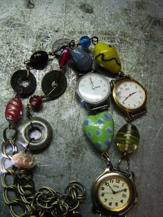 A Clockwork Junk Necklace by thatgirlmegan on Etsy, $37.00