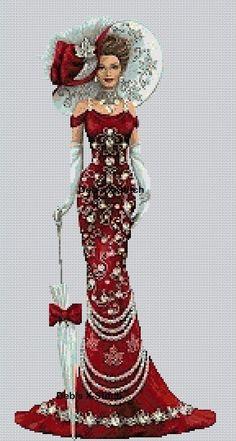 Elegant Lady #9 Cross Stitch Chart in Crafts, Cross Stitch, Cross Stitch Charts | eBay