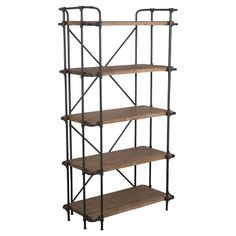 Yorktown 5-Shelf Industrial Bookcase - Brown, Christopher Knight Home : Target