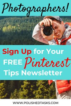 You have a growing photography business and you know how important Pinterest marketing is but it changes so fast and you're too busy. Sign up for my weekly Pinterest Tips newsletter and you'll learn something new every week as well as trends and new best practices. Don't miss another tip. Sign up now! #PinterestNewsletter #PinterestMarketing #PinterestTips #Photography Best Practice, Photography Business, Pinterest Marketing, Tips, Professional Photography, Counseling