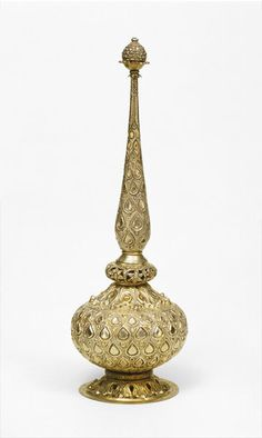 The rosewater sprinkler was taken from the treasury of Tipu Sultan in 1799, following his defeat by the British