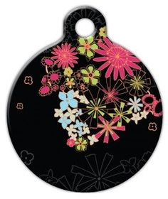 Dog Tag Art Custom Pet ID Tag for Dogs - Midnight Garden - Small - .875 inch *** More info could be found at the image url.