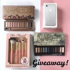 INTERNATIONAL GIVEAWAY Ive partnered with my favourite bloggers to give one lucky follower this amazing iPhone 7 two sets of Naked make up and a Too Faced brush set To participate: 1. Follow me 2. Like this picture 3. Go to @monimoscoso and repeat the steps 4. Follow this same steps on every account until you come back to me or the account you started with and leave a comment when youre done. If you want a double chance to win tag/mention some real friends on the comments below and like my…