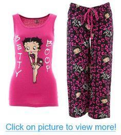 Pink Betty Boop Wild Betty Capri Pajamas for Women
