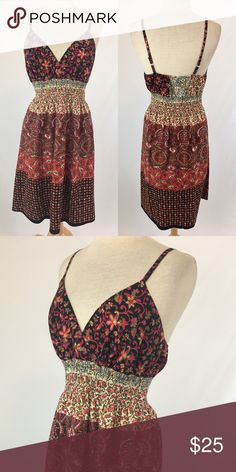 Boho chic dress SKU: 15802 Length Shoulder To Hem: 41 Bust: 35 Waist: 31 Fabric Content: 100% Cotton Lambina Dresses