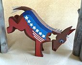 paper mache political donkey