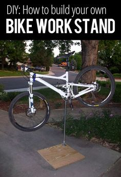 How to build your own bike work stand - For more great pics, follow bikeengines.com