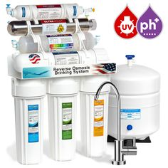 Express Water 11 Stage UV Ultraviolet + Alkaline + Reverse Osmosis Home Drinking Water Filtration System 100 GPD RO Membrane Filter - Modern Faucet