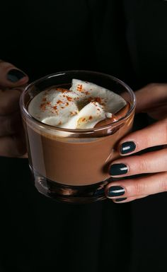 Finish off a decadent evening with a spiced, spiked hot chocolate.