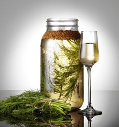 """Homemade AQUAVIT. Literally """"water of life,"""" aquavit is a traditional flavoured spirit that is principally produced in Scandinavia, where it has been produced since the 15th century. Craft Cocktails & Mixology http://pinterest.com/wineinajug/craft-cocktails-mixology/"""