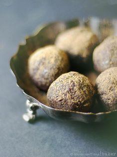 Chocolate Cherry Bliss Balls #veganrecipes #chocolate