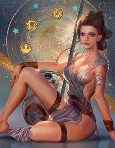 endarkened-dreams: Rey star wars fan art by... - Superhero Pinups