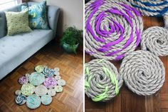How to Make a Twisted Rope Rug | Brit + Co